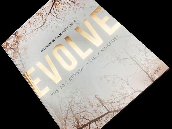 Ad Book / Tribute Book Print Sample - Evolve Women in Film