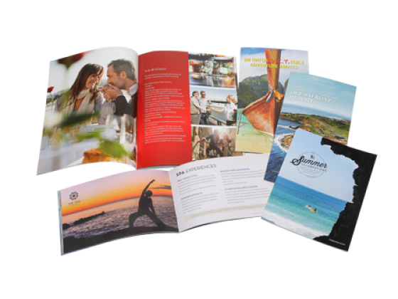Offset printing, saddle stitch catalog