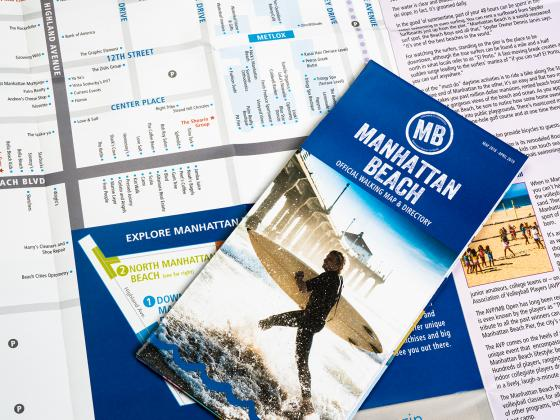 City map brochure, flyer, digital, folding