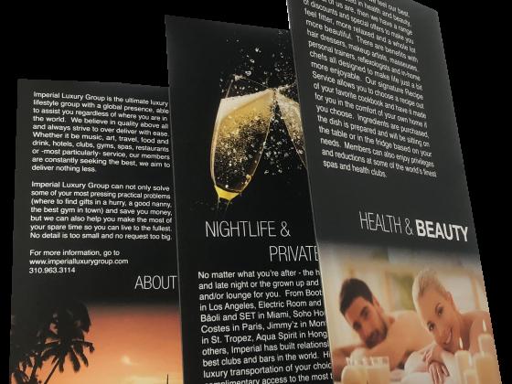Multi-fold Brochure - Five fold, Folded, 4 Color, Print Sample